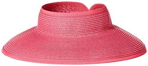 ca77bd955ad San Diego Hat Company Women s Ultrabraid Visor With Ribbon Binding ...