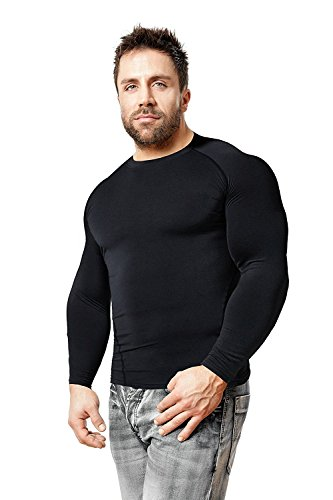 Copper Compression Long Sleeve Men's Recovery Shirt. Best Compression Fit Support