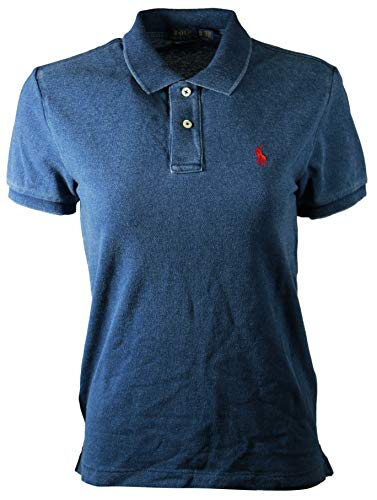 - Polo Ralph Lauren Womens Classic Fit Mesh Polo Shirt (M, Indigo Blue (Red Pony))