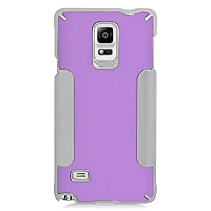 Eagle Cell Luxury Metal Case for SAMSUNG Galaxy Note 4 - Retail Packaging - Purple/Silver