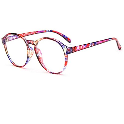 T-Y Unisex Classic fashion retro glasses frame Plain glasses - Eyeglass Frames Lucite