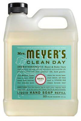 S C Johnson Wax 14163 33-oz. Clean Day Basil Scent Liquid Hand Soap Refill Bottle