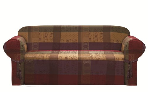 Chezmoi Collection Gitano Gold Heavy Duty Jacquard Couch