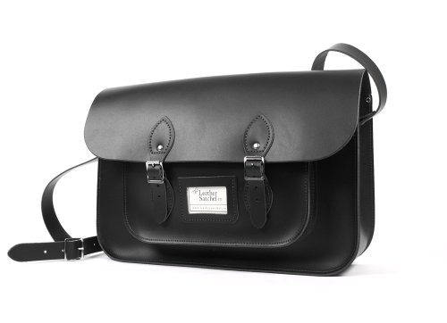 Leather Satchel co, Borsa a secchiello donna Nero nero