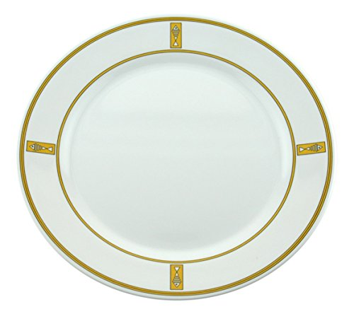 Galleyware Gold Fish Melamine Non-Skid Dinner Plates, Set Of 4
