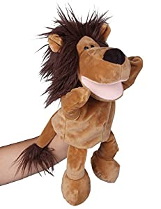 """Flexibuy 12"""" Babies Toddlers Velour Cute Brown Lion Full Body Hand Puppet Toys by Flexibuy"""