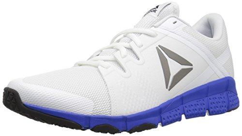 Reebok Mens Trainflex Cross-Trainer Shoe White/Vital Blue/Pewter/Black