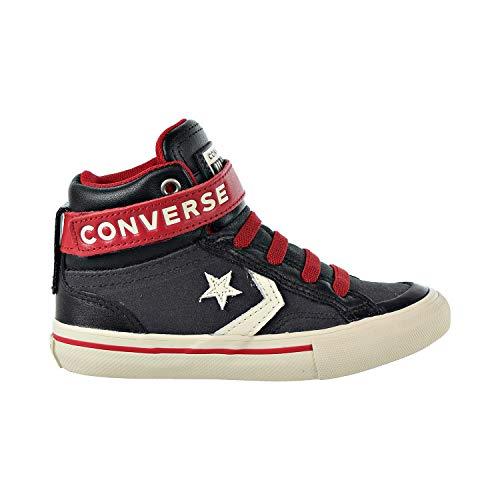 Converse Boys' Pro Blaze Strap Suede High Top Sneaker Almost Black/EGRET/Turtledove 12.5 M US Little Kid