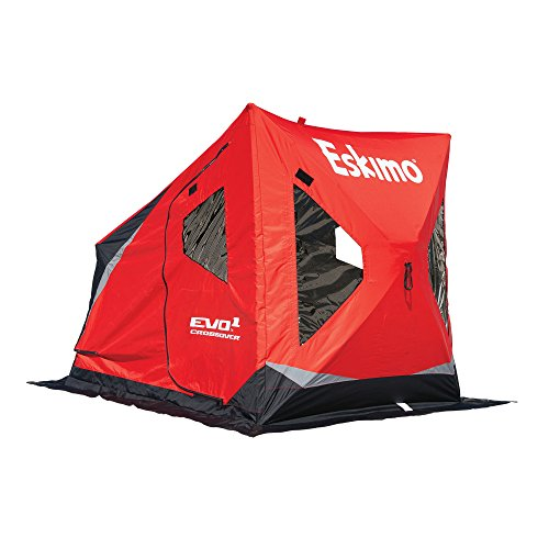 Eskimo Evo 22100 Evo1 Portable Flip Style Ice Shelter with Pop Up Hub Sides, 1-Person