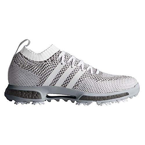 adidas Men's TOUR360 Knit Golf Shoe, FTWR White/FTWR White Trace Grey, 10 Medium - Adidas Golf Boost Shoes
