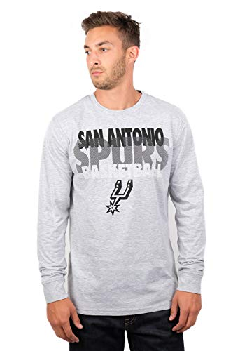 UNK NBA Adult Men T Supreme Long Sleeve Pullover Tee Shirt, Gray, XX-Large