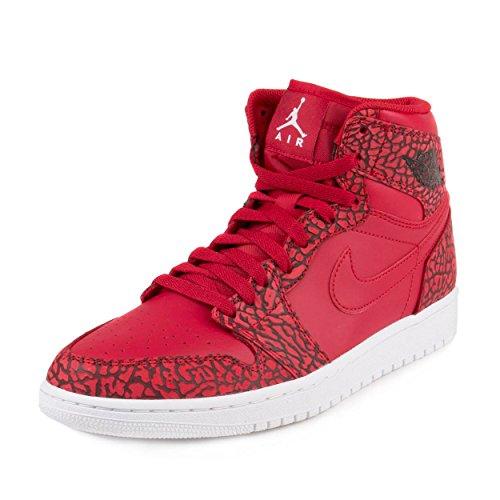 NIKE Jordan Men's Air Jordan 1 Retro High Basketball Shoe Gym Red/White/Team Red/White (11.5, Gym RED/White-Team - Mens White 1 Jordan Air