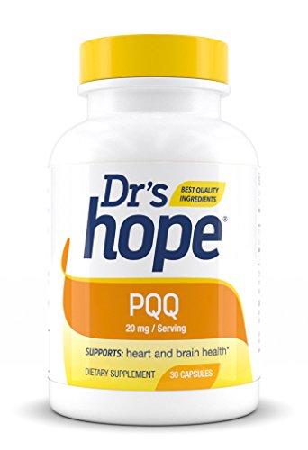 Dr's Hope   PQQ 20 mg   High Quality, GRAS, Gluten Free, Vegan, No Artificial Additives, 30 Veggie Caps   Cardiovascular Cognitive Mental and Brain Health  Pyrroloquinoline Quinone   Made in USA Review