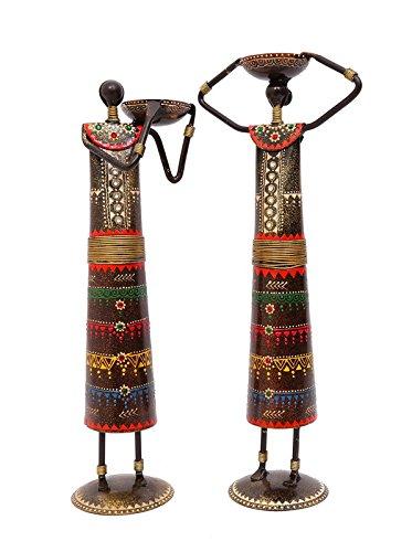 Buy Indikala Decorative Metal Showpiece Elegant Tall Masai Figurines
