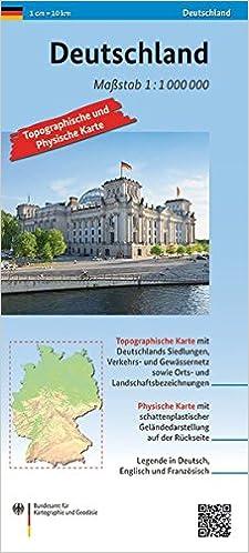 Topographische Karte Deutschland Kostenlos.Deutschland 1 1 000 000 Topographische Und Physische Karte