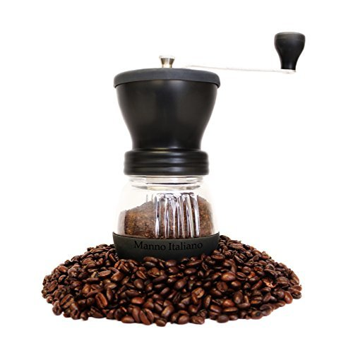 Manual Coffee Grinder - Adjustable Ceramic Burr Grinders with Hand Crank