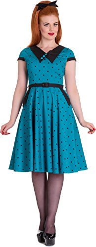 Brooke schwarzen Kleid 4545 Hell Türkisblau Kleid Punkte Bunny mit Damen Dots Dunkles xv47TC