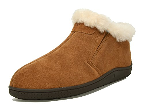 - DREAM PAIRS Men's Sole-Furry-01 Tan Sheepskin Fur Slippers Loafers Shoes Size 11 M US