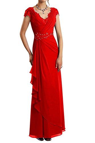 La Lang Elegant Partykleider Abendkleider Dunkel Kurzarm Rot Spitze mit Abschlussballkleider Etuikleider Lila Braut Brautmutterkleider mia wHXrqUH