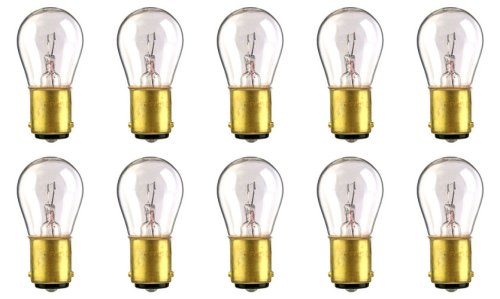 Miniature Bulb Ba15d Base (CEC Industries #1076 Bulbs, 12.8 V, 23.04 W, BA15d Base, S-8 shape (Box of 10).)