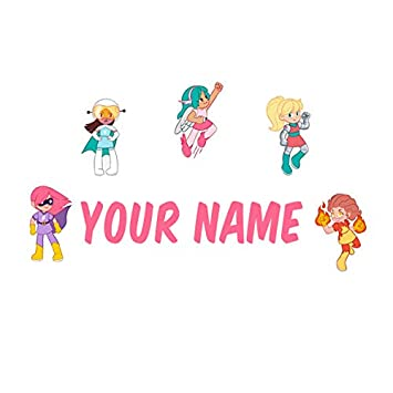 Personalized Kids Name Wall Decal Galaxy