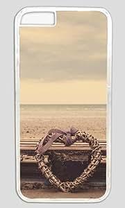 Beach Heart DIY Hard Shell Transparent Designed For iphone 6 Case