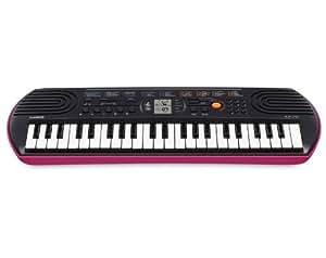 Casio SA-78H5 SA-78 - Teclado electrónico (plástico, 2 altavoces integrados), negro y rosa