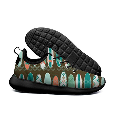 Sports Surf Stripes Roshe Surfing Lightweight Tribal Flex Stylish Mesh beach pattern 2 Surfboards Running Road Womens Shoes Hoohle Board 1qwEd1I