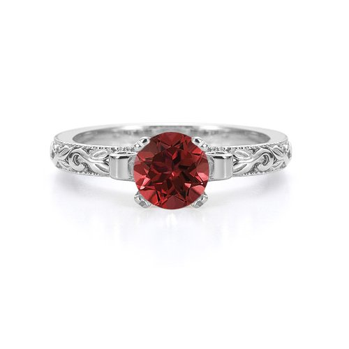 art deco ruby ring - 5