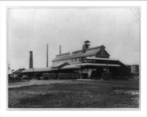 (Historic Print (L): Modern sugar mill, plantation Rosario at Aguacate, Cuba)