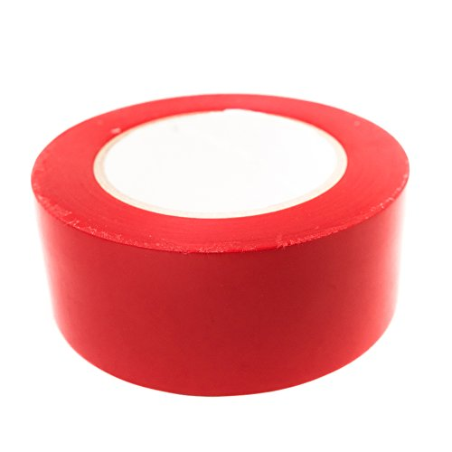 Marking Aisle Tape Red (Bertech Aisle Marking Tape, Red, 2