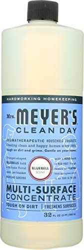 Mrs. Meyer's Clean Day Multi-Surface Cleaner Concentrate, Use to Clean Floors, Tile, Counters,Bluebell Scent, 32 ounces