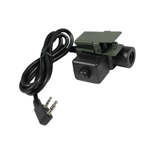 PTT for 2-Pin Kenwood Wouxun PowerWerx Pryme HZT Bowman Tactical Headset