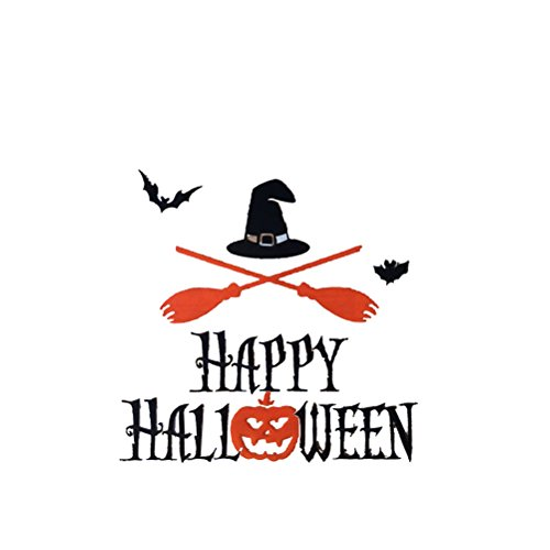 OULII Happy Halloween Candy Witch Hat Pumpkin Cookies Boxes Stickers Ornament for Halloween Party Decoration]()