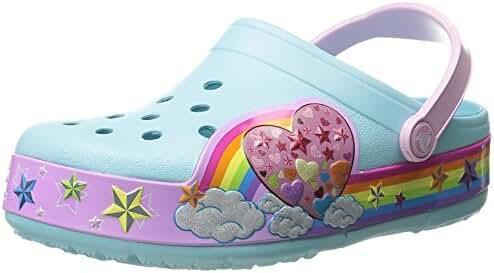 Crocs Kids' CrocsLights Rainbow Heart Light-Up Clog (Infant/Toddler/Little Kid/Big Kid)