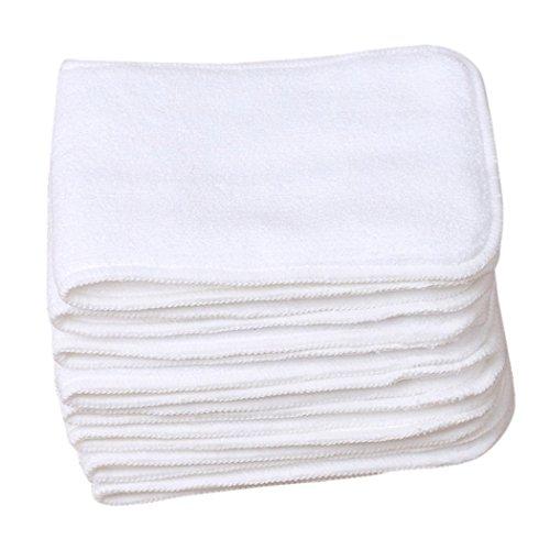 3 Stück (3 Schichten) Atmungsaktive Baumwolle Baby Windeleinlagen für Stoffwindeln Windelnhose Weich Wiederverwendbar