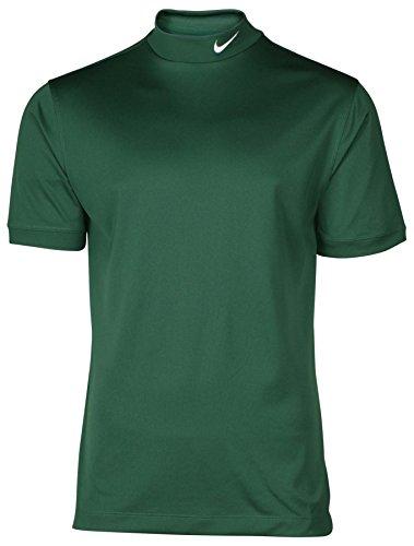 Nike Men's Tech UV Mock Neck Dri-Fit Short Sleeve Shirt-Green-XL