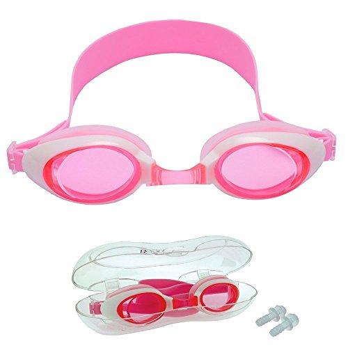 Junior Kids Swimming Goggles Children Swim Glasses - Pink Clear - Goggles Swimming Sale