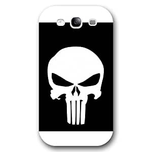 UniqueBox Customized Marvel Series Case for Samsung Galaxy S3, Marvel Comic Hero The Punisher Logo Samsung Galaxy S3 Case, Only Fit for Samsung Galaxy S3 (White Frosted Case) hjbrhga1544
