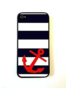 Generic Striped Sailer Red Anchor Hard Plastic Case Cover For iPhone 6 (4.7 Inch Screen) Skin Protector Accessory wangjiang maoyi