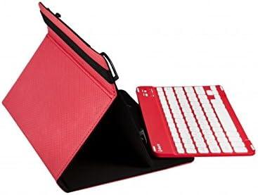 SilverHT - Funda Universal Gripcase + Teclado (9'' - 10.1'') - Rojo