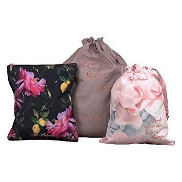 Ted Baker negro cítricos Bloom bolsas para ropa sucia (Juego ...