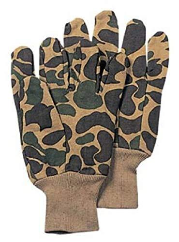 Camouflage Jersey Gloves - BlackC Sport Sportsman's Fleece Lined Jersey Gloves Camouflage