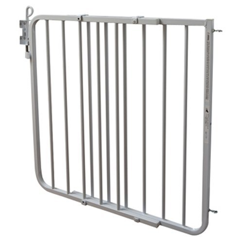 Cardinal Gates Auto-Lock Gate, White – Adjustable Width Expands to 40 for an Extra Wide Baby Gate, Easy Walk Through Baby Gate