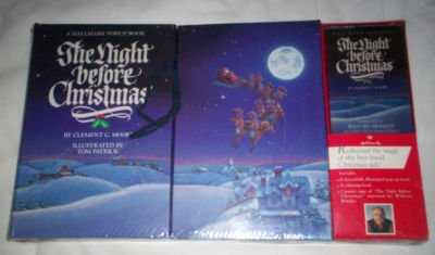 The Night Before Christmas - Pop-Up Book / Coloring Book / Audio Cassette by Hallmark, Kansas City, MO
