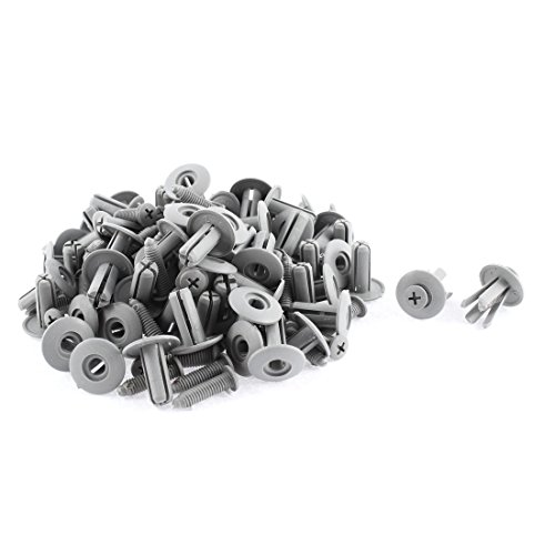 uxcell a15082600ux1556 50 Pcs Gray Plastic Moulding Clip for 8mm Hole, Pack (97 Jetta Trim)