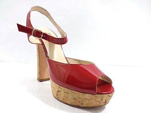 Zapatos Mujer JFK 40 EU Sandalias Rojo Charol AY986 nyefQPoTRe
