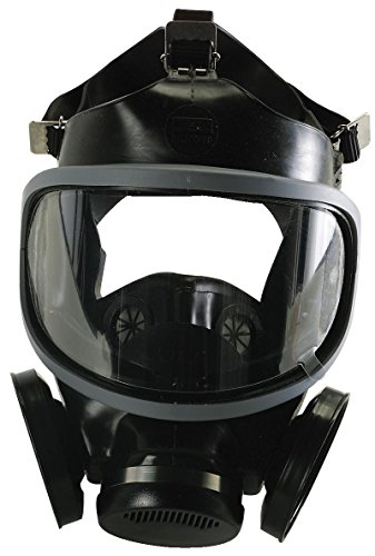 MSA Safety 480259 Ultra-Twin Silicone Full-Facepiece Respirator, Medium, Black by MSA