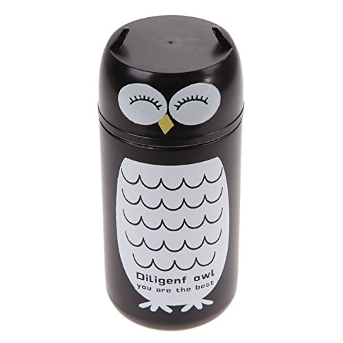 1PC Design Portable Cute Panda&Owl Thermos 220ML Stainless Steel Owl NG4S ()