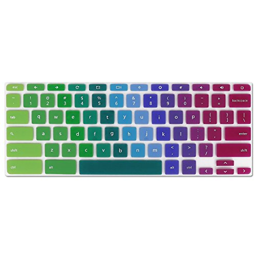 iKammo Rainbow Keyboard Cover for Acer Chromebook R 11 CB5-132T CB3-131, Chromebook R 13 CB5-312T, Chromebook 14 CB3-431 CP5-471, Chromebook 15 CB3-531 CB5-571 C910 US Layout, Rainbow